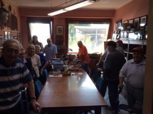 Alcuni Amici del Don Guanella in una delle sale riunioni